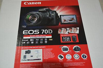New Canon EOS 70D Digital SLR Kit w/IS STM 18-135mm Lens + Extra Bat 32GB & More