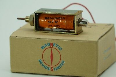 3 Linear Push 24v Dc 10n 12.6 Ohms Solenoid Electromagnet England Aircraft
