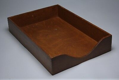 Vintage Globe Wernicke Wooden Desk Organizer In Out Letter Tray Finger Joints