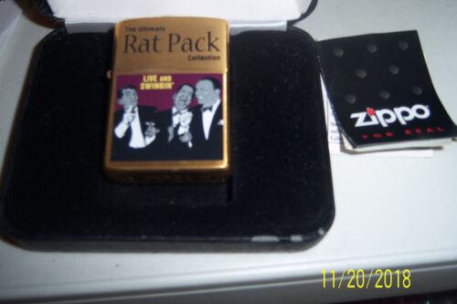 "ZIPPO "" THE RAT PACK "" GOLD  CHROME LIGHTER..NO 0688 OF 3000 MINT"