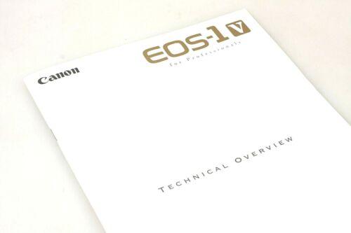 Rare New Canon Terchnical Brochure for EOS-1 V film camera