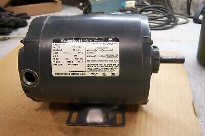 Westinghouse 13 Hp Electric Ac Motor 115 Vac 3450 Rpm 1 Phase D48 Frame