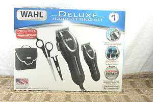 wahl haircutting kit wahl deluxe haircutting kit with trimmers ebay 1565