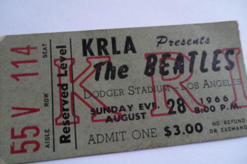 THE BEATLES 1966 Original CONCERT TICKET STUB__Los Angeles__EX+