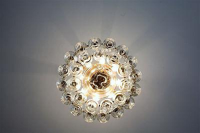 60er 70er Doria Bubbel   Ice Glass Chandelier  Lampe Lamp 50cm D