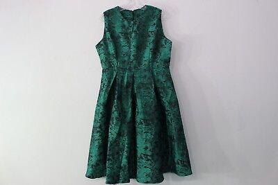 Stylewe Kaimilan Midi Dress Fully Lined Us Size 10 Green Backzip