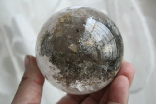 719g NATURAL RARE ghost phantom QUARTZ CRYSTAL Sphere BALL Healing c44