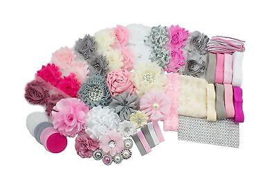 Fashion Headband Kit - Baby Shower Games DIY Hair Bow Maker - Make 32 Headbands  - Diy Headband Kit