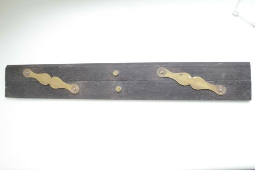 """Antique Parallel Rule Ebony Brass Nautical Drafting Wooden Tool 18"""""""