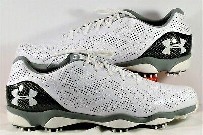 Under Armour Drive One Jordan Spieth White Golf Shoe SZ 13.5 NEW 1267756 104