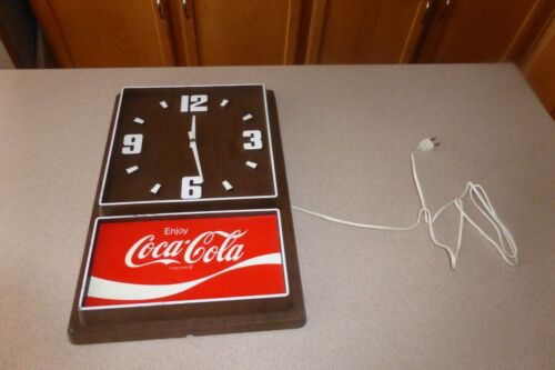 Vintage Enjoy Coca Cola Electric Wall Clock by Impact International