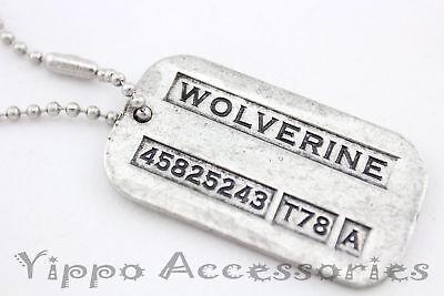 Wolverine Logan X-men Vintage Weapon-X Double-Sided Dog Tag Pendant Necklace