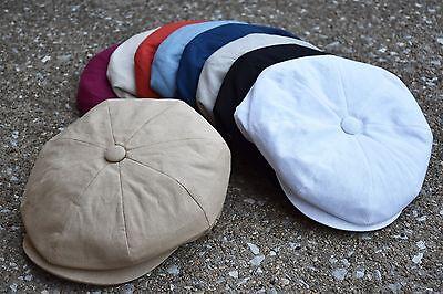 Mens Newsboy Cap, Cabbie, Driving, Light Weight Applejack Cotton Cap EPnsb2412