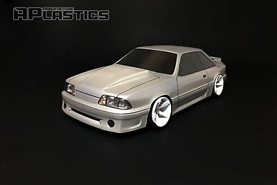 RC Body Car Drift 1:10 Ford Mustang Fox GT Fastback Hatch 90 style APlastics New for sale  Shipping to United States