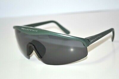 Vintage SMITH Metallic Military Green/Gray Cycle Sport Shield Mens Sunglasses (Vintage Military Sunglasses)