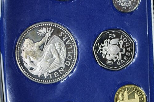 First National Coinage of Barbados Silver Coin Proof Set