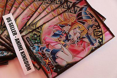 Anime Sleeves 50 x Holographic Sleeve card Protector Sexy Dark Magician Girl
