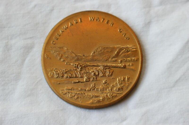 Delaware Water Gap National Rec Area Brass Souvenir Coin Medallion