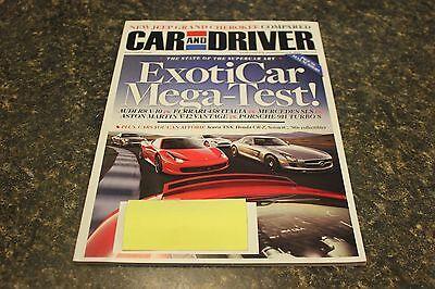 Car And Driver Exotic Car Mega Test  November 2010 Vol 56  5 9248 1  Box H  1107