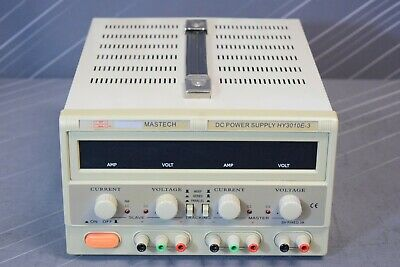 Mastech Hy3010e-3 Regulated Variable Dc Power Supply 30v 10a