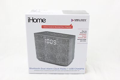 iHome Melody Bluetooth Dual Alarm Clock Radio USB Charging iBT232G NEW A036