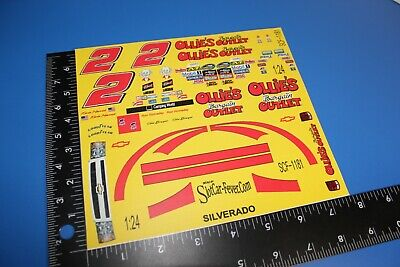 decal sheet #2 Kevin Harvick OLLIE'S 1:24 scale DECALS SCF-1181 Chevy Silverado