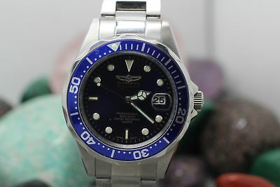 Invicta Professional 9204 Date All Stainless Steel Men's Wrist Watch Running