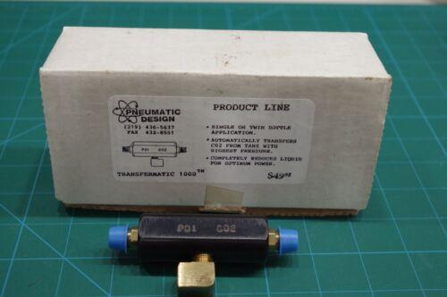 "Pneumatic Design ""Transfermatic 1000"" anti-liquid Co2. OLD SCHOOL! Rare! VINTAGE"