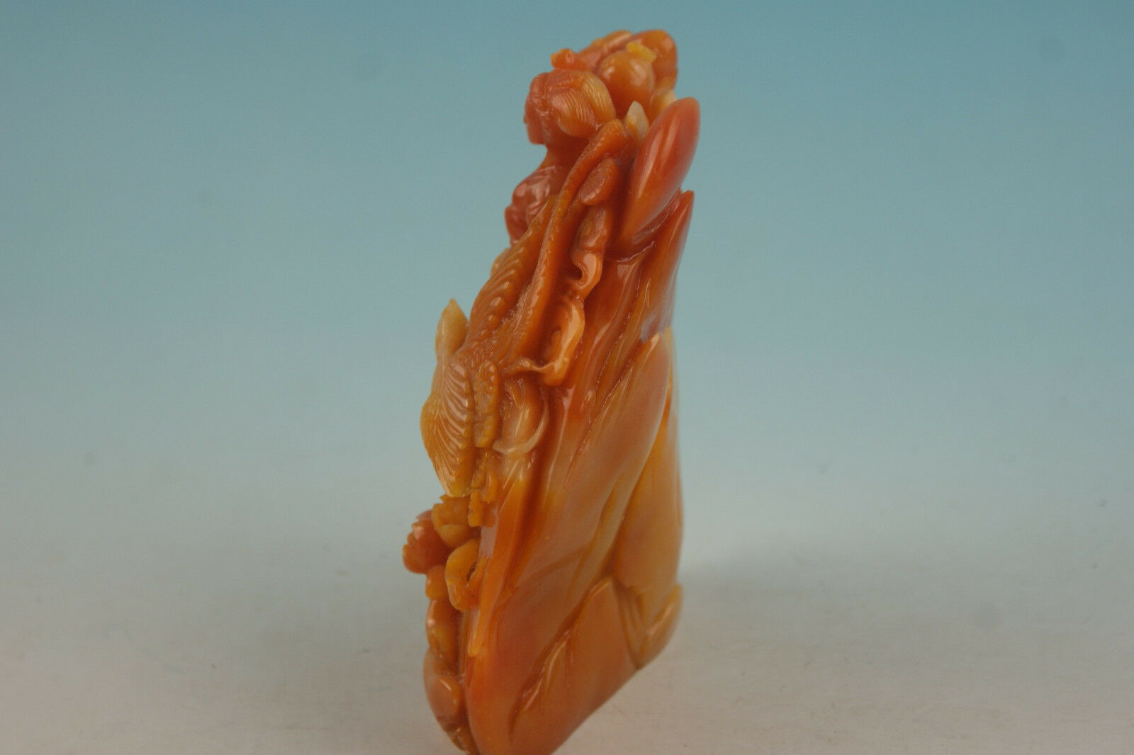 China shoushan stone old Hand carved fairy Statue
