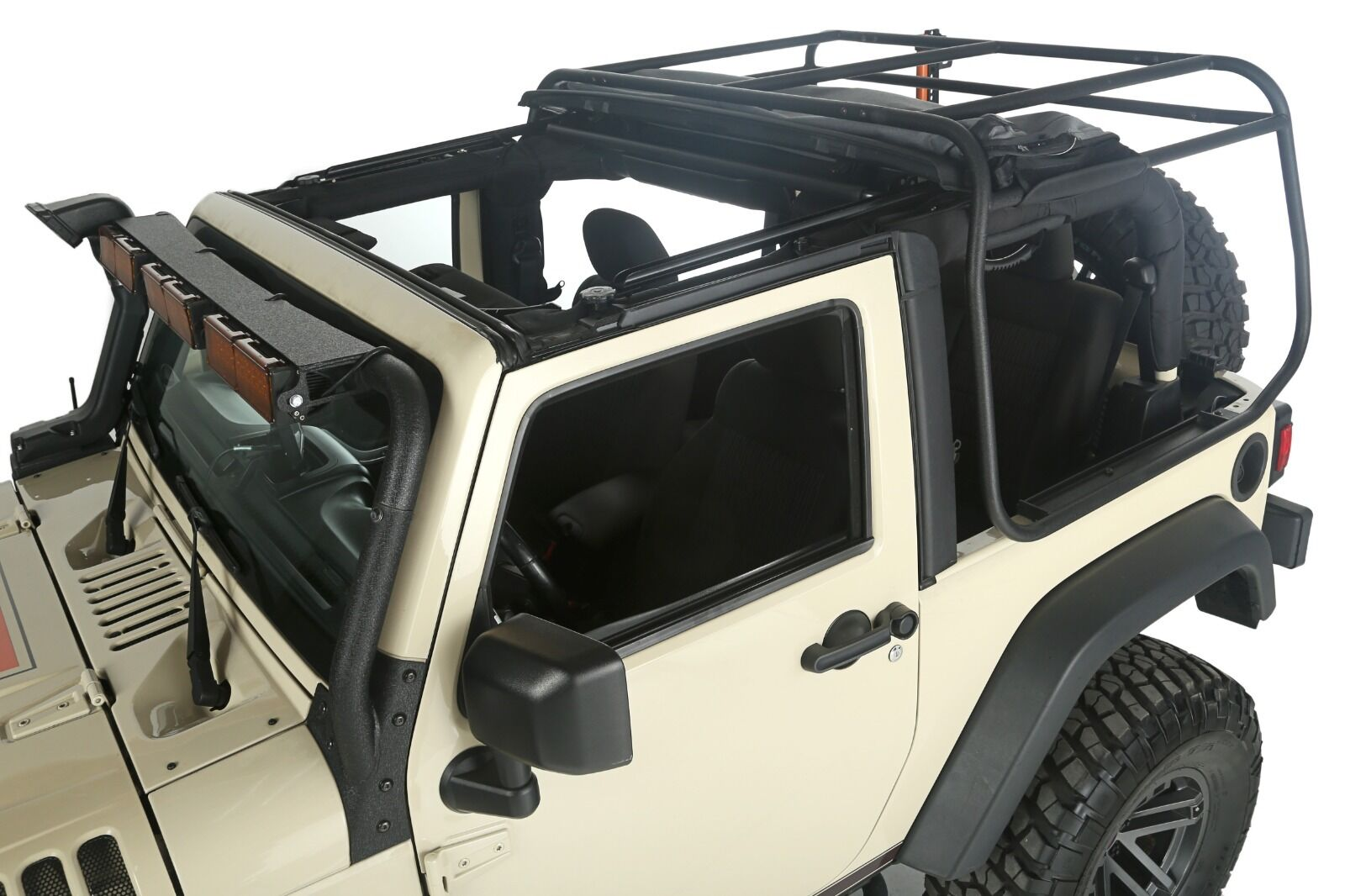 Exo Top Soft Top Amp Roof Rack For Jeep Wrangler Jk 07 18 2d