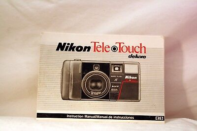 ORIGINAL OEM NIKON TELE TOUCH DELUXE 35mm CAMERA OWNERS INSTRUCTION MANUAL
