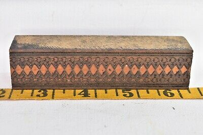 Vintage Printing Letterpress Printers Block Wood Ornate Carved Design