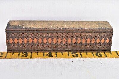 Vintage Printing Letterpress Printers Block Wood Ornate Carved Design
