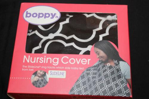 Boppy Nursing Cover Seville Black White Slideline Collection new