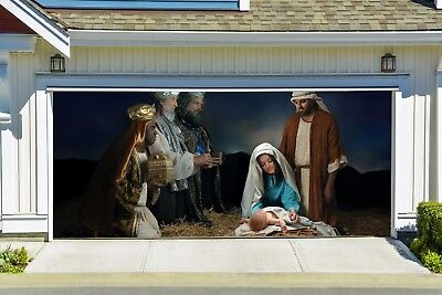 Nativity Scene Garage Door Cover Full Color Christmas Garage Door Mural GD215 (Garage Door Scenes)
