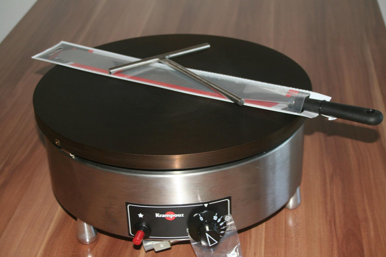 40cm Gas Crepemaker Krampouz Crepesgerät Crepiere Teigverteiler Teigwender 7 kW