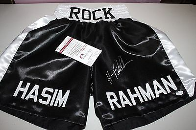 HASIM RAHMAN SIGNED CUSTOM BOXING TRUNKS FORMER CHAMP