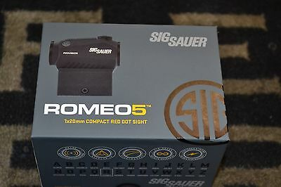 Sig Sauer Romeo 5 1x20mm Compact Red-Dot Sight 2 MOA Dot SOR52001