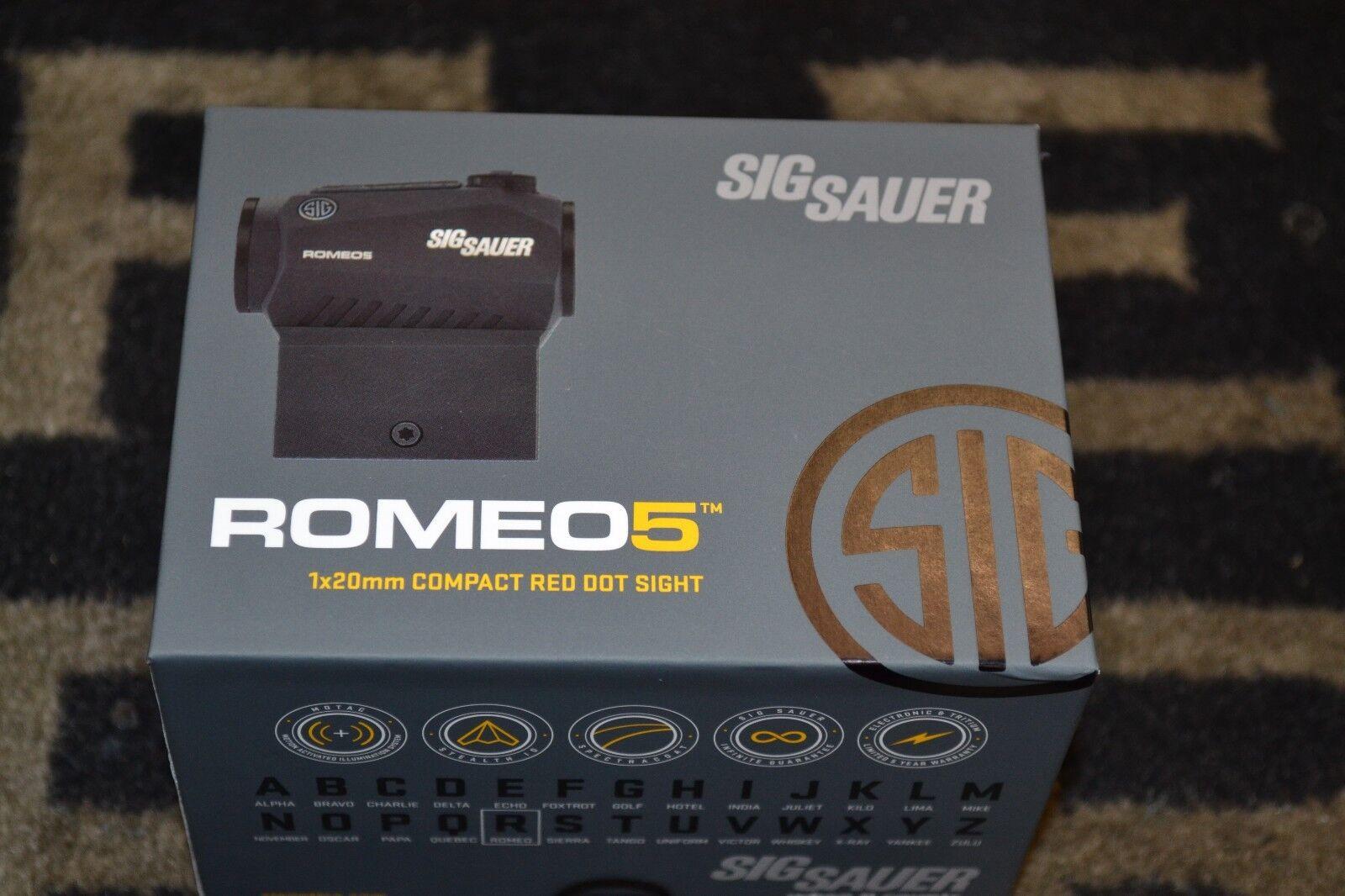 Изображение товара Sig Sauer Romeo5 1x20mm Compact Red-Dot Sight 2 MOA Dot NIB
