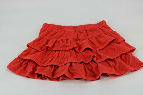 Epic Threads Girls Solid Red Ruffled Layered Skirt Sz 6X
