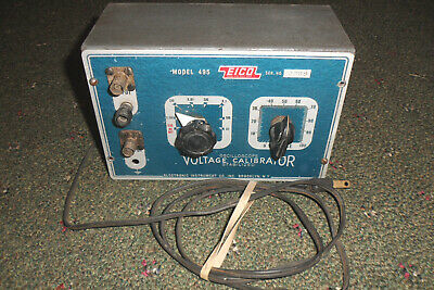 Vintage Eico 495 Oscilloscope Stabilizer Voltage Calibrator New Tubes Powers On