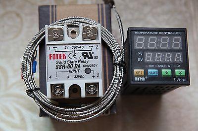 Digital Fc Pid Temperature Controller Thermostat Ta4-snr 2m K Sensor 60a Ssr