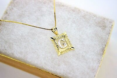 14k Gold Plate Chain (Authentic 14K Gold Plate Initial Pendant with/without Box Chain )