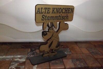 """""""ALTE KNOCHEN Stammtisch"""" Tischaufsteller zweiseitig  - ca.20,5x15cm"""
