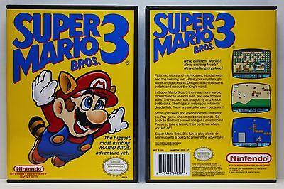 Super Mario Bros. 3 - Nintendo NES Custom Case - *NO GAME*