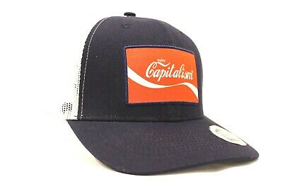 Enjoy Capitalism Hat Trucker Cap Coca Cola Parody Republican Trump 2020 Rally