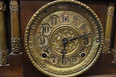 Old American Wood Chime Mantle (American Mantle Clocks)
