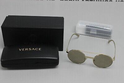 Versace VE2210 52 Brown/Gold Round (Versace Round Sunglasses)