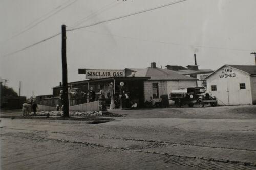 1930s? EARLY Sinclair Gas Station Photo, Bernards Station, E Market, Corning, NY