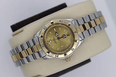 Tag Heuer 2000 WK1321 Classic Professional SS Watch Womens MINT DIAL 2 Tone Gold